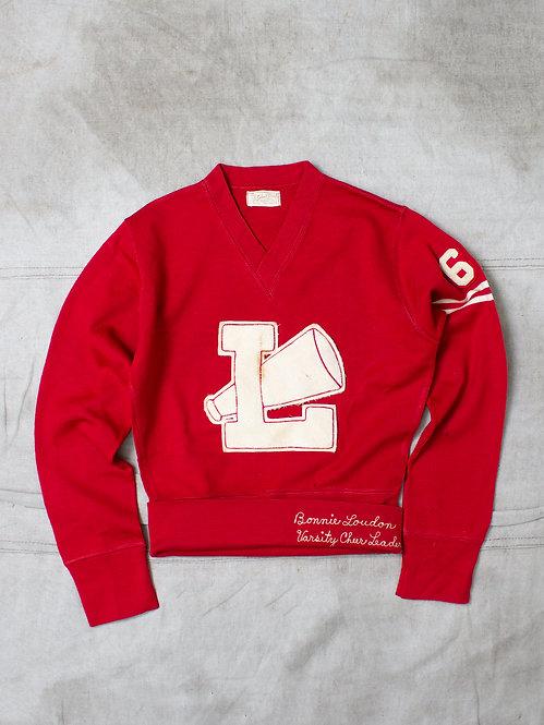 Vintage Womens Cheerleader Sweater (M)