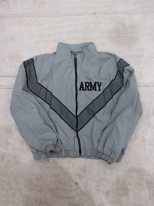Vtg US Army Physical Training Reflective Windbreaker Jacket