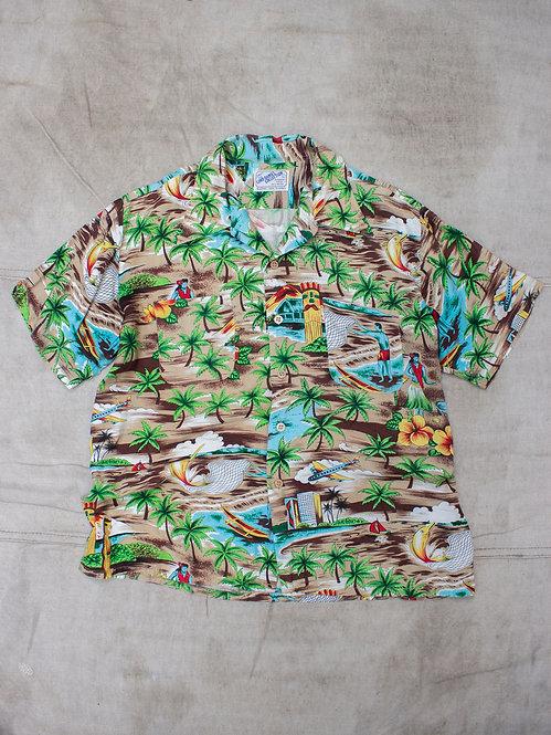Vtg 1970s Lord Daniel Rayon Hawaii Shirt (M/L)