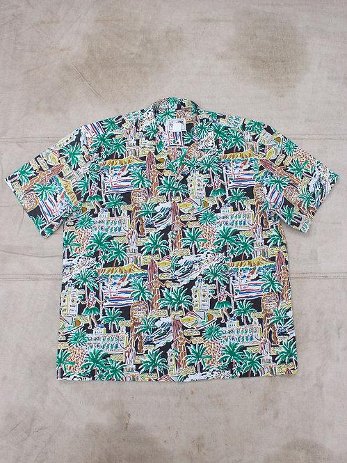 Vtg Aloha Shirt Made In Hawaii (L/XL)