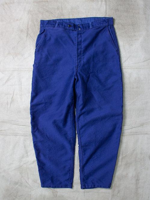 Vtg French Moleskin Trousers (36x28)