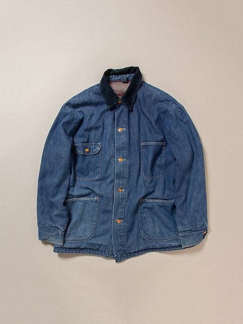 Vintage Plaid Loco Denim Jacket (L)