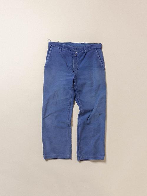 Vtg French Workwear Moleskin Trousers (36x28)