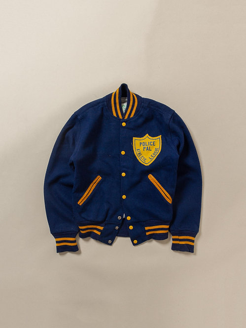 Vtg Holloway Police Athletic League Jacket - Made in USA (XS/S)