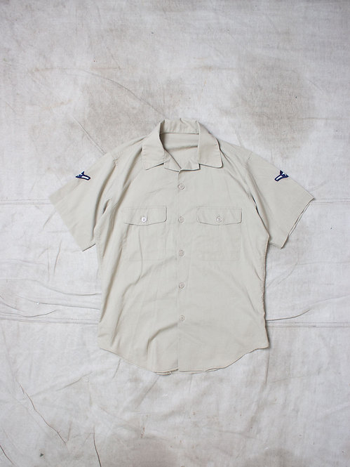 Vtg US Army Camp Collar Shirt (M)