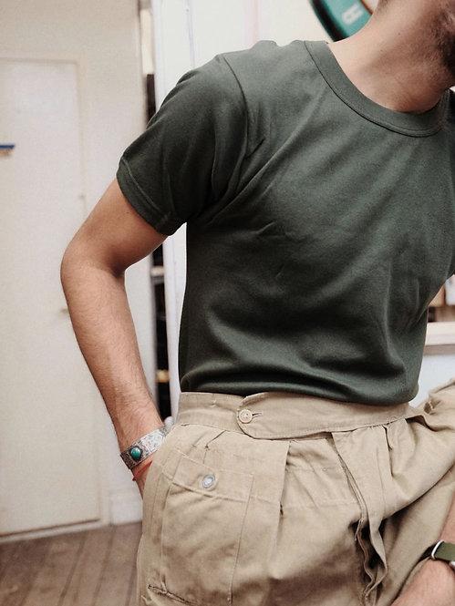 deadstock 1990s Italian Army tee in 100% cotton
