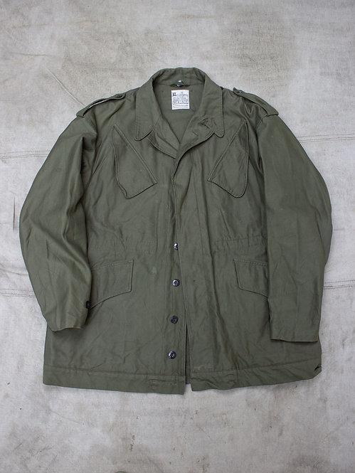 Vtg Dutch Army Olive Drab Field Jacket (L)