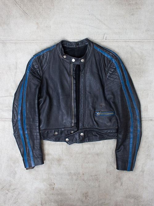 Vtg 70s Biker Jacket (XS)