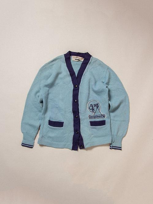 Vtg Womens 1974 Knit Cardigan (L)