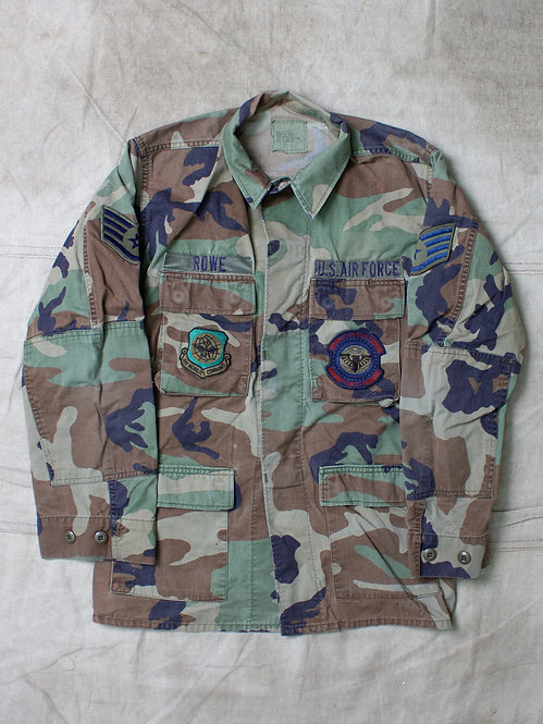 Vtg USAF Woodland Camo Jacket (S-Regular)