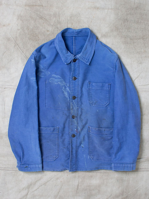 Vtg French Moleskin Workwear Jacket (S)