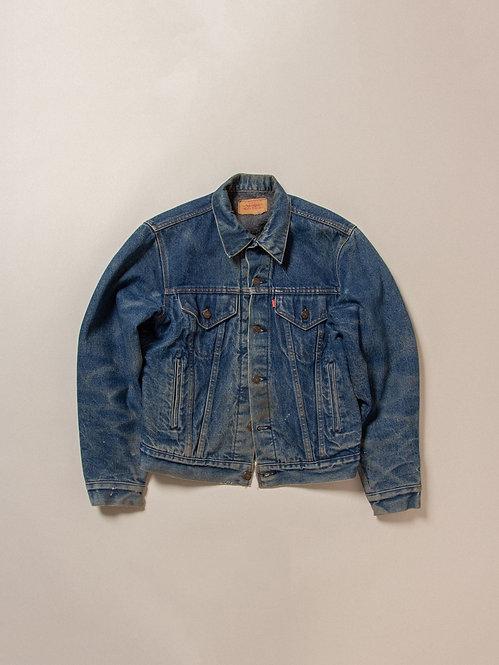 Vintage Plaid Lined Levis Denim Jacket (40)