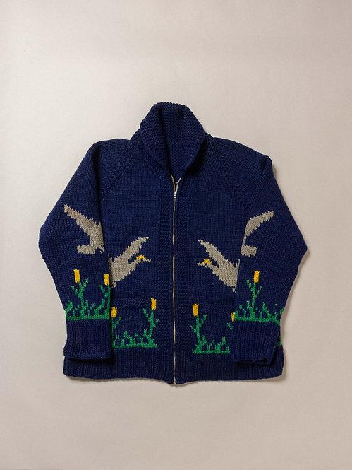 Vintage Cowichan Hand Knit Sweater (XL)