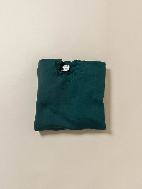Vtg Green 50/50 Sweatshirt - Made in USA (XL)