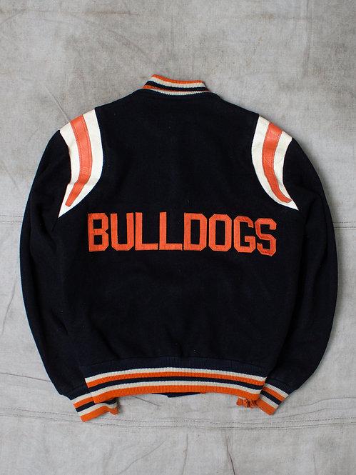 Vintage Bulldogs Varsity Wool Jacket (S)