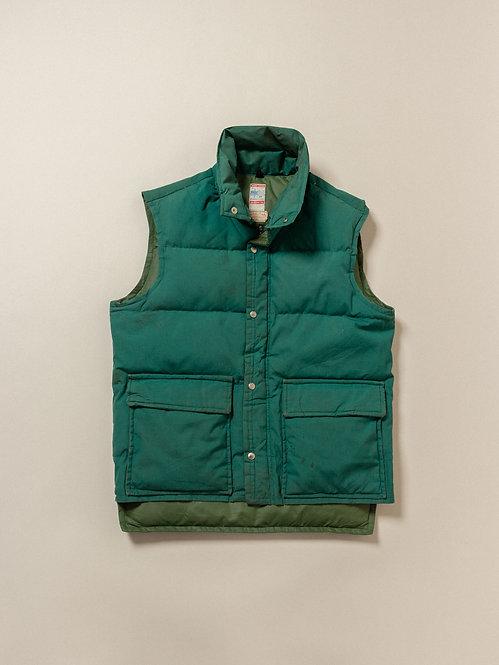 Vtg Green Frostline Down Vest (L)
