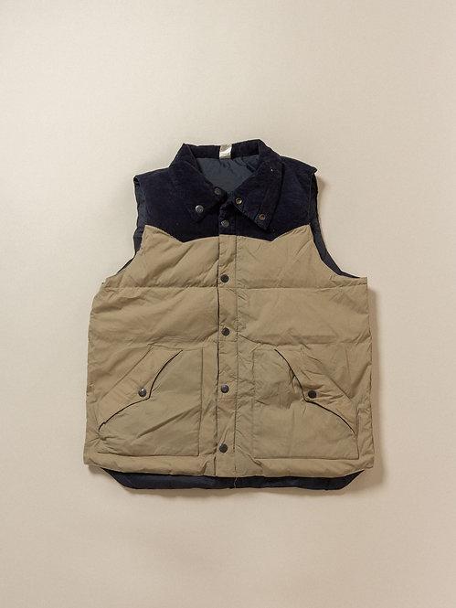 Vtg Two Tone Reversible Down Vest (M)