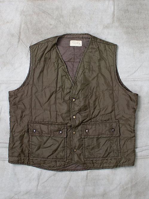 Vintage Quilted Hunting Vest (XL)
