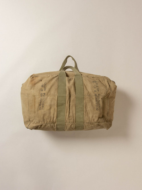 Vtg Stenciled WW2 US Aviators Kit Bag