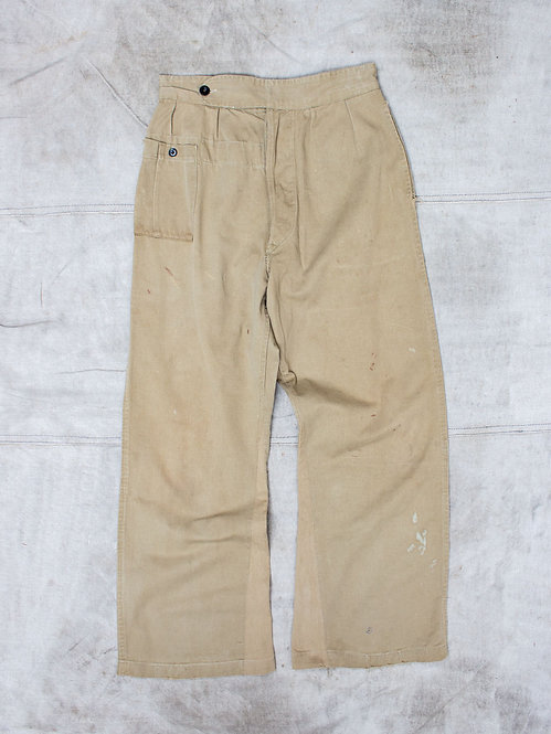 Vtg WWII British Army Drill Trousers (30x30)