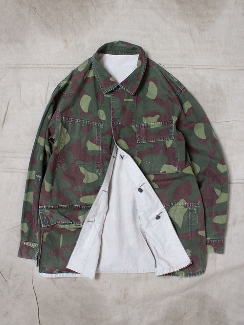 Vtg Finnish Army Reversible Camo Jacket (L)