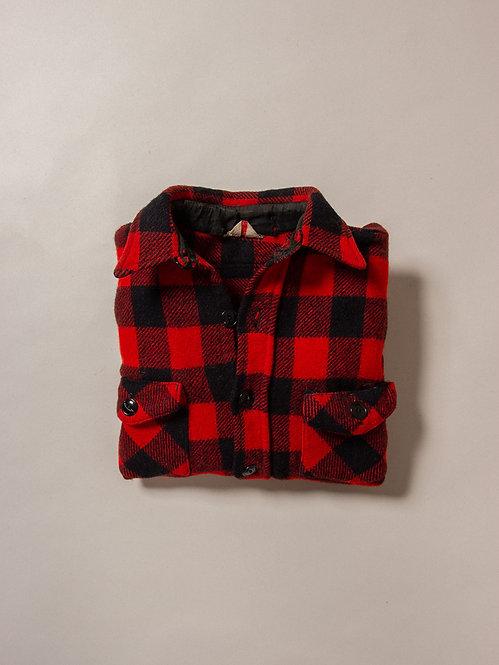 Vtg Buffalo Wool Plaid Shirt (S)