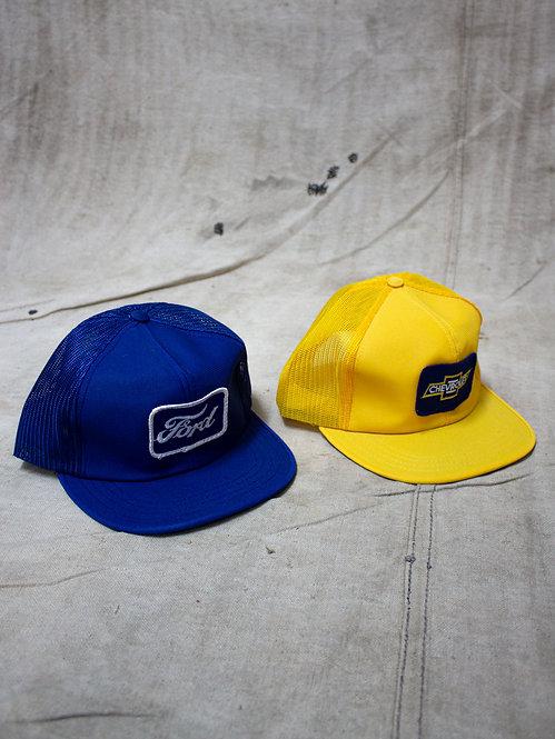 Ford & Chevrolet Trucker Caps. New Old Stock