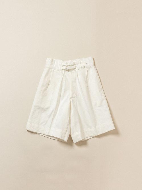 Deadstock White Italian Navy Gurkha Shorts