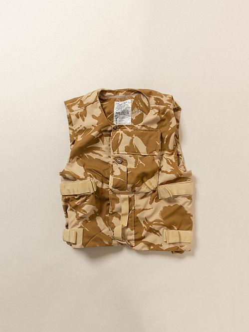Vintage 1990s British army desert camo flak vest