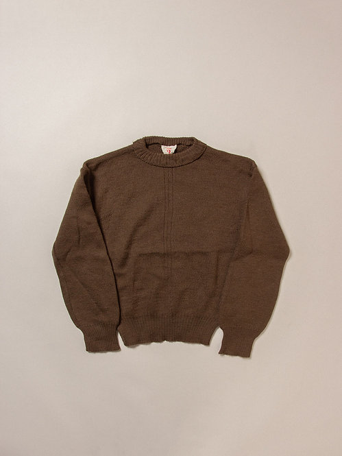 Vtg 1950s French Army Wool Jumper (XS)