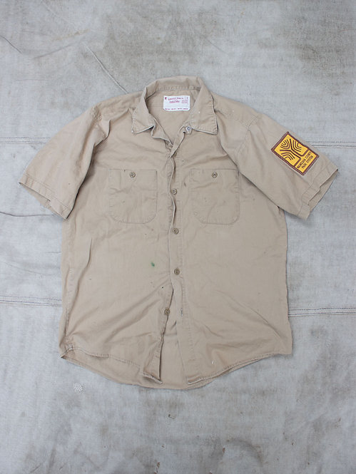 Vtg Union Made Khaki Work Shirt (M)