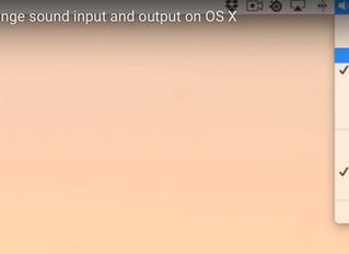 Raccourcis rapide output / Input audio