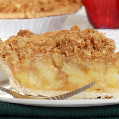 Royal Apple Crumble Pie
