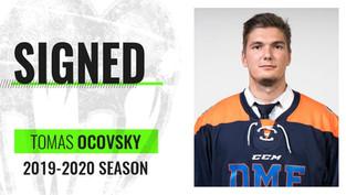 Tomas Ocovsky from Slovakia signs for the 2019-20' season