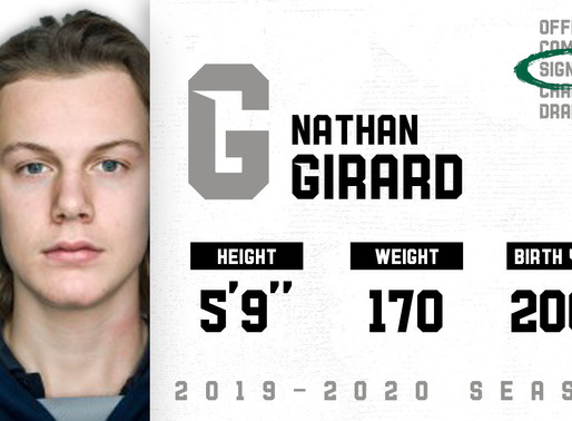 From Sherbrooke, Nathan Girard joins the roster