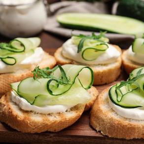 Bruschetta with Cucumbers
