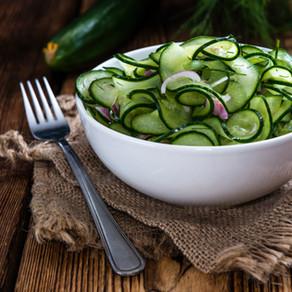 Cucumber & Red Onion salad