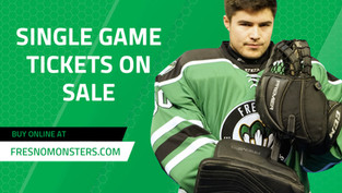 Single game tickets are now on sale for Selland Arena