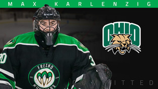 Monsters veteran goalie Max Karlenzig commits to Ohio University