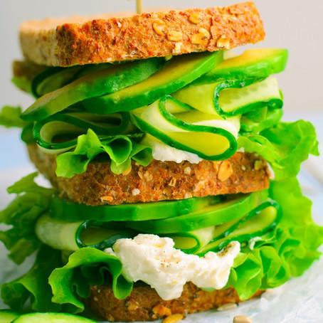 Cucumber and Avocado Sandwich