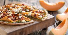 Cantaloupe Prosciutto Arugula Pizza