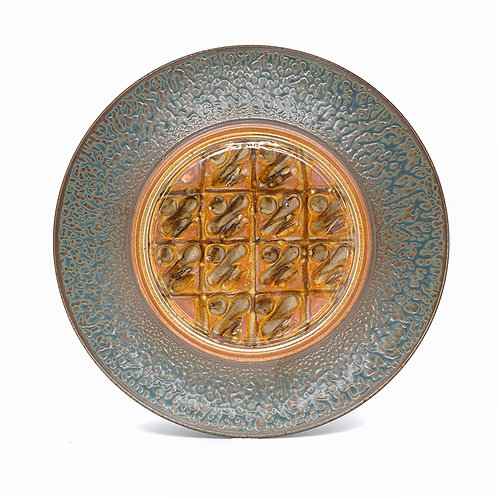 Large Platter in Tan l Ash glaze