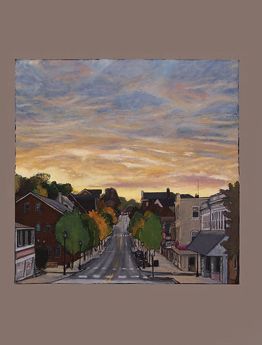 Greeting Card -Sunrise Over Main Street Souderton