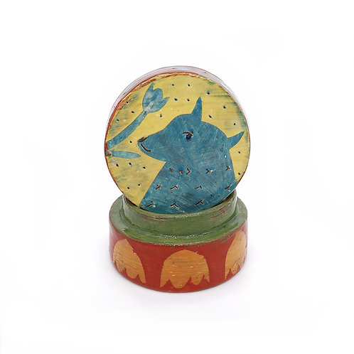 Blue Fox Lidded Box