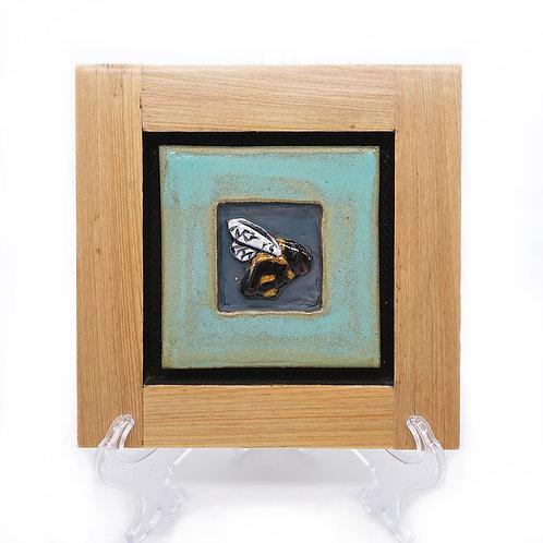 Bee - Framed Tile (facing right)