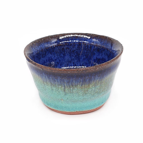 Mini vessel in blue and celadon glaze