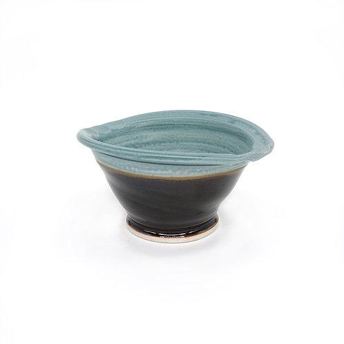 Elliptical Bowl in Copper l Black glaze