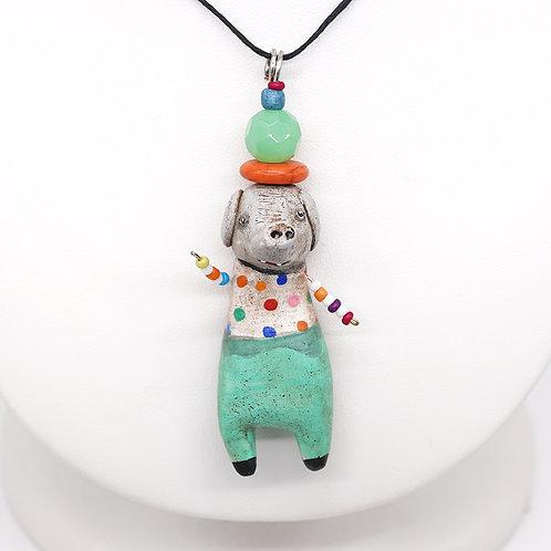Polka Dots Elephant Necklace