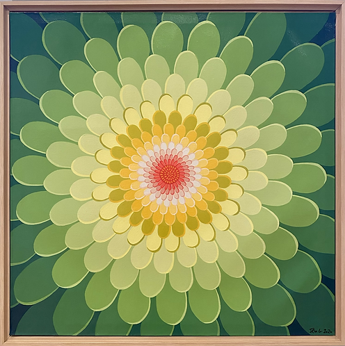 Zinnia- shades of green