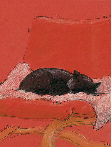Greeting Card - Little Enid in Red Chair